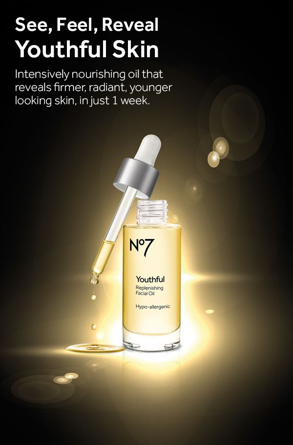 Thanks to the perfect blend of natural oils and vitamins, our No7 Youthful Replenishing Facial Oil keeps skin soft and after just two weeks fine lines and wrinkles appear smoother.
