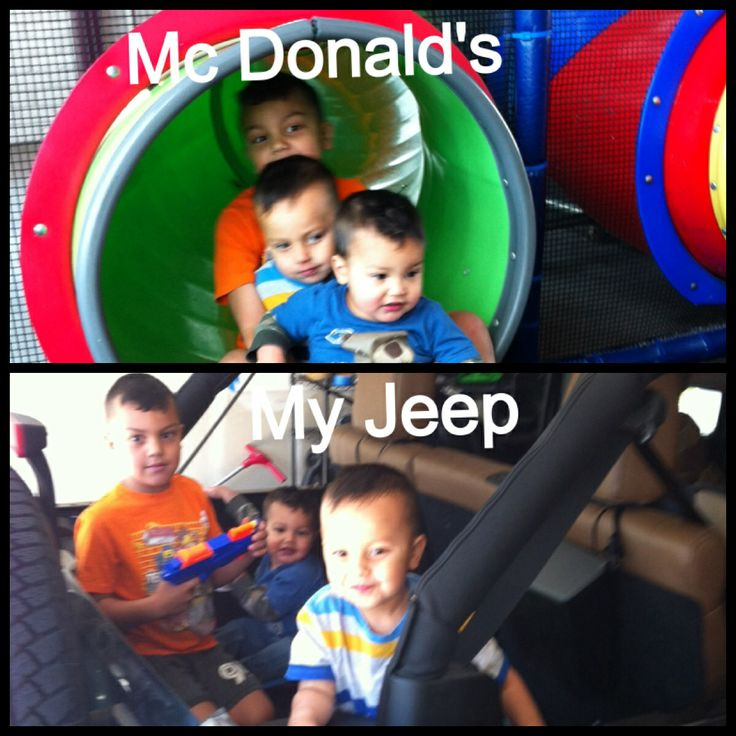 Mc Donald's Playground vs. my Jeep. Jeep wins all the time:)