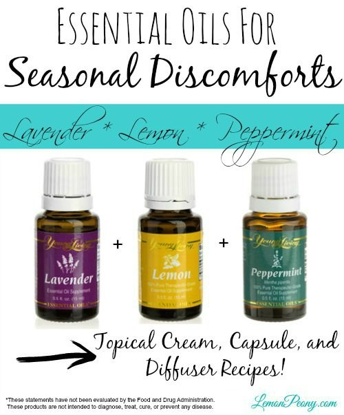 Essential Oils for Seasonal Discomforts! Topical Recipes and Diffuser Recipes!