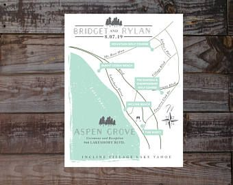 Wedding invitation map, Event map, Guest map, Driving Directions,  wedding ceremony map, illustrated map, hand-drawn map, wedding maps