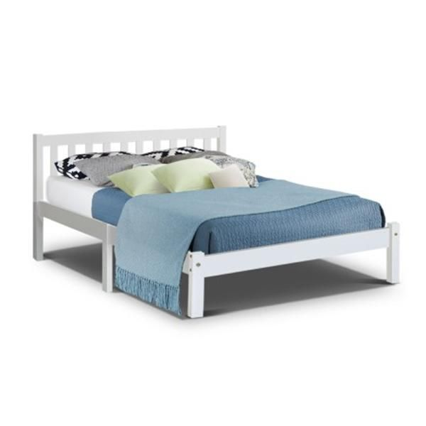 Double Full Size Wooden Bed Frame Sofie, Wooden Timber Bed Base Queen