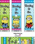 Free Printable Minion Bookmark party favors
