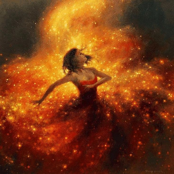 Firefly - Jimmy Lawlor Possibly made with Oil paint or sponge painting                                                                                                                                                                                 More