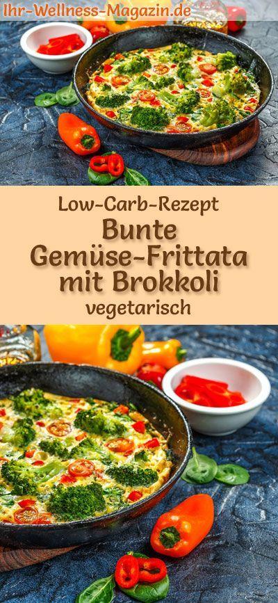 Low-Carb Rezept für Gemüse-Frittata – Vegetarisches Abendessen oder Mittagessen …   – Vegetarische Low Carb Rezepte