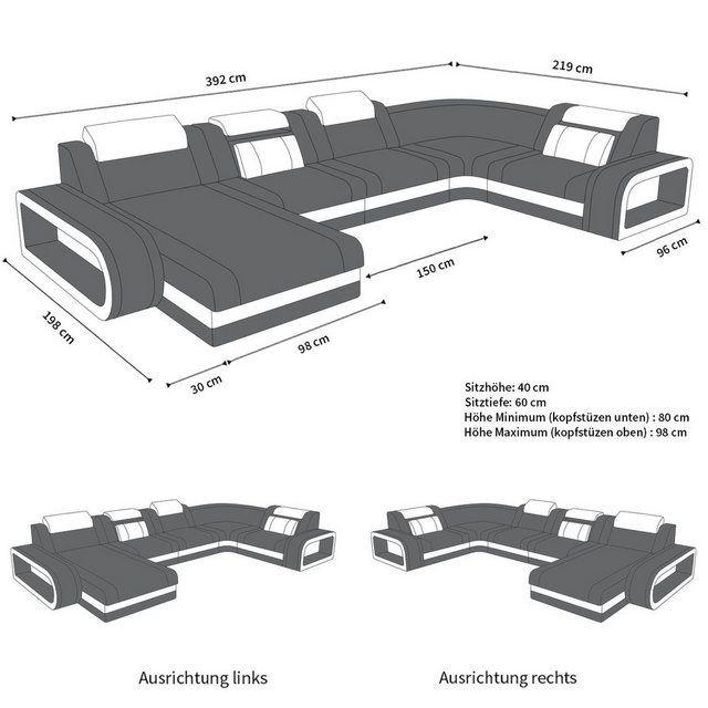 Led Furniture Leather Sectional Sofas Sofadreams In 2019 Leather Corner Sofa Leather Sofa Modern Leather Sofa