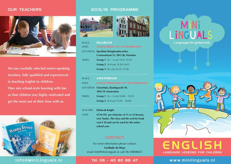 Minilinguals Leaflet (Outside)