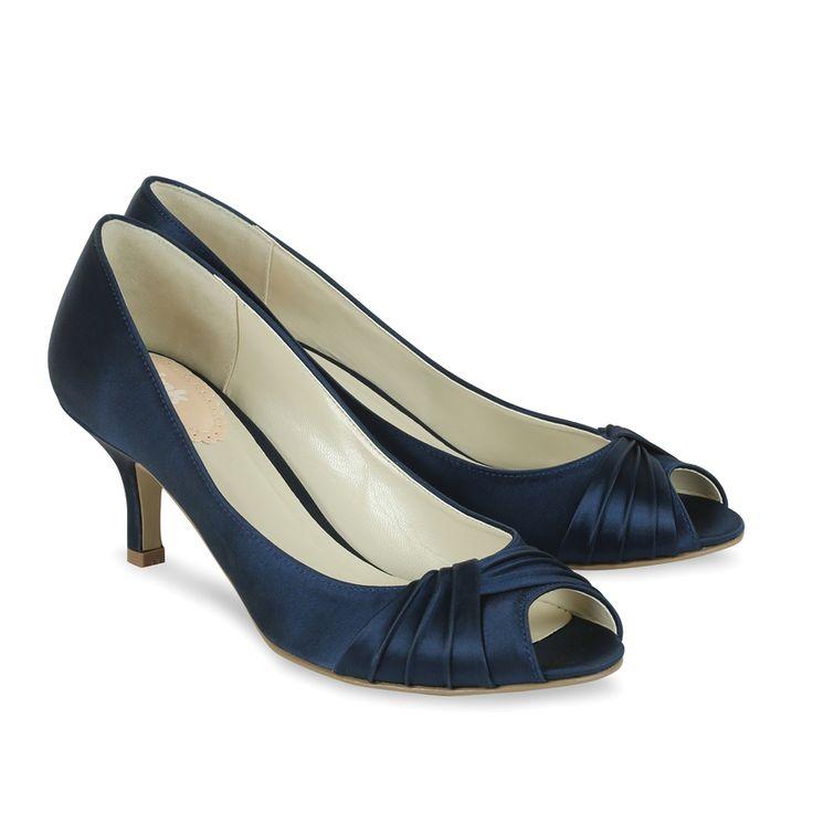 Pink Paradox Navy Blue Satin Shoes