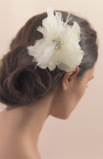 Tasha Feather Flower Clip | Nordstrom ... wedding hair style