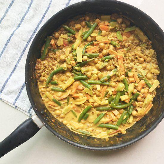 Vegan Lentil & Chickpea Curry