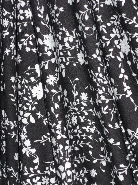 Viscose Cotton Stretch Lycra Fabric- Botanical Gardens VISCP175 WHBK