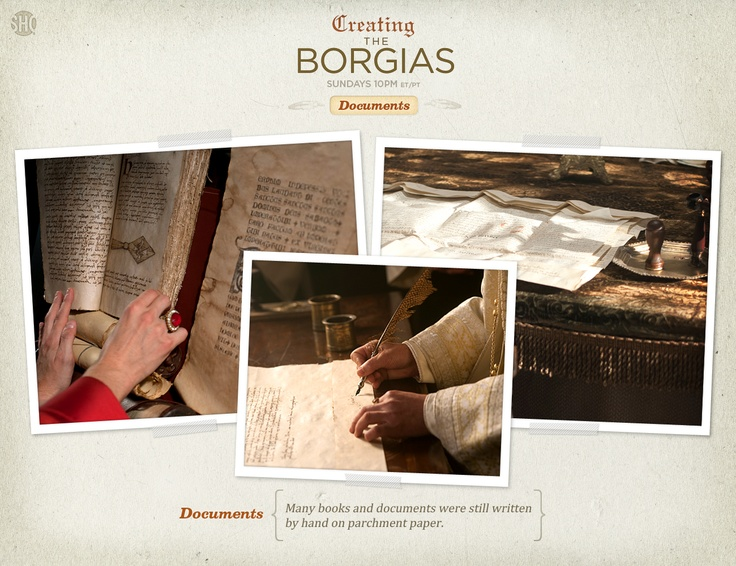 Many books and documents were still written by hand on parchment paper.