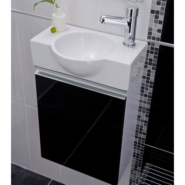 Ensemble lave main xs meuble lave mains lapeyre 40 x h for Small main bathroom ideas