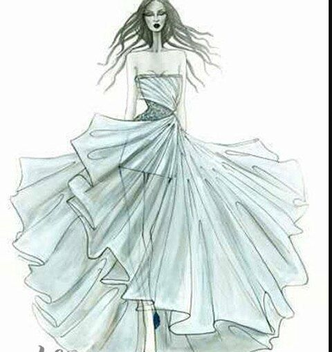 13 best Hand-painted wedding dresses images on Pinterest | Fashion ...