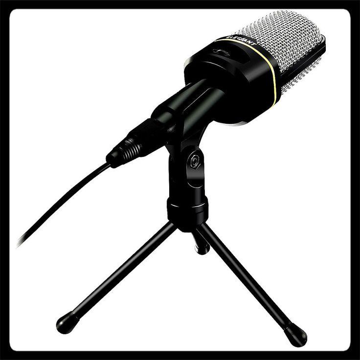 Desktop Computer Microphone Studio Recording Condenser Mic & Laptop Stand PC Win #desktopcomputermicrophone