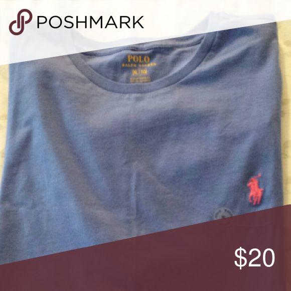 Men's tee shirt Medium blue Polo tee shirt, round neck Polo by Ralph Lauren Shirts Tees - Short Sleeve
