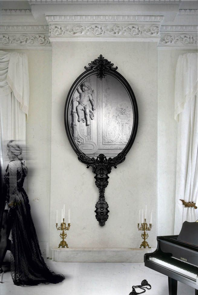 Now I consider this CLASSIC - the best piece of room decor. #tcarter2012 The Newest Boca da Lobo Limited Edition Wall Mirror : The Marie Antoinette.