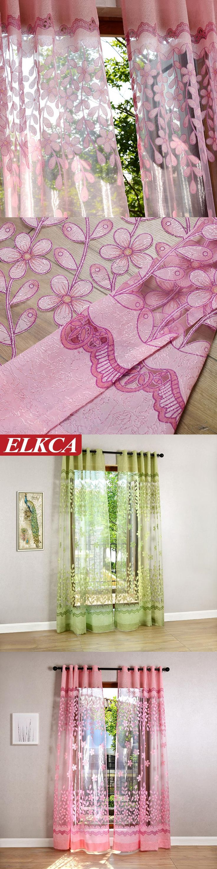 European Sheer Luxury Window Tulle Curtains for Home Drapery Cloth Fancy Window Royal Fresh Style Tulle Curtain Fantasy Flowers