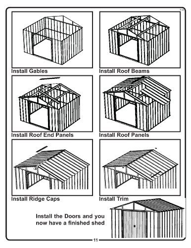 Arrow Shed AR108-A Arlington 10-Feet by 8-Feet Steel Storage Shed > Easy to assemble pre-cut and pre-drilled parts High gable roof for extra headroom Durable paint finish is baked-on enamel over galvanized steel Check more at http://farmgardensuperstore.com/product/arrow-shed-ar108-a-arlington-10-feet-by-8-feet-steel-storage-shed/