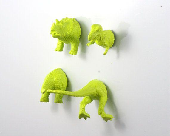 Green Dinosaur Magnets