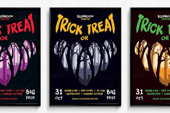 Trick or Treat Halloween Poster by SNK's on Creative Market