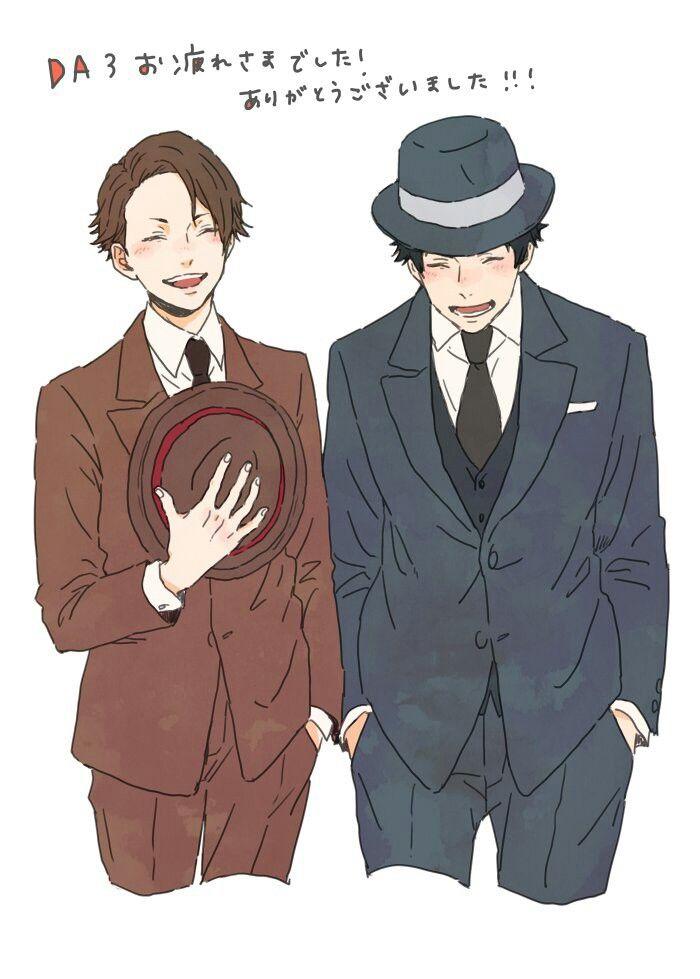 Miyoshi and Sakuma ( look like they're married... )   Joker Game