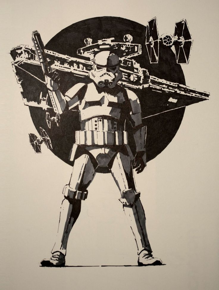 ArtStation - Stormtrooper - Ink on paper, Guillaume Menuel