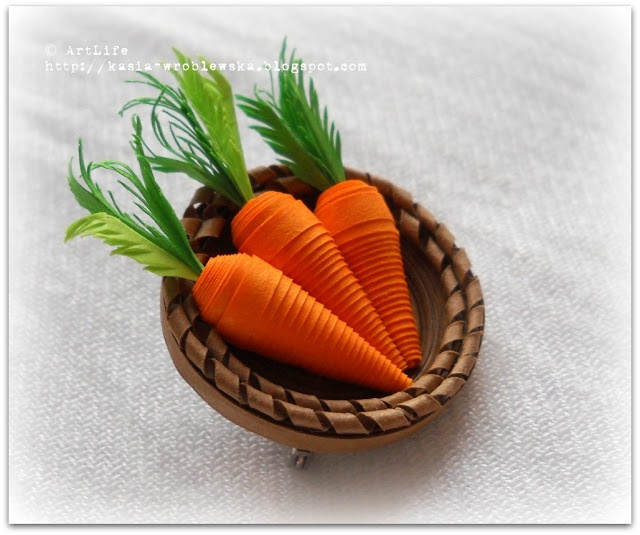 Quilled Carrots!