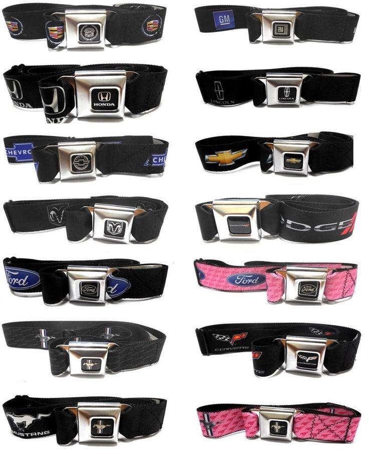 Auto Brands Logo Seat Belt Style Color Seatbelt Belt Buckles - Multiple Styles #Casual