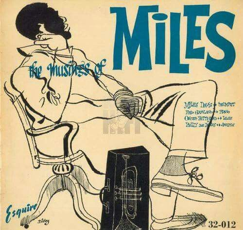 Miles Davis album cover by Disley, 1955. /// I really like the gestural lines and drawing.
