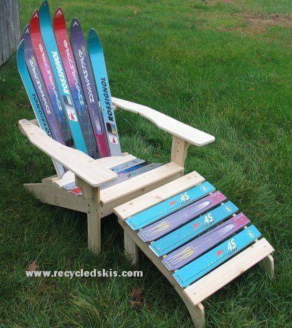 unique diy furniture. green mountain ski furniture repurposes your old skis unique diy