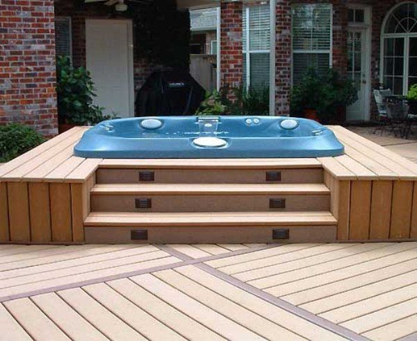 Jacuzzi Hot Tub Sunken into beautifully designed decking.