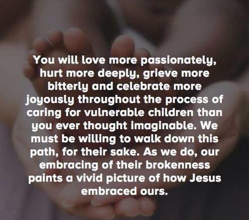 As Jesus embraced ours
