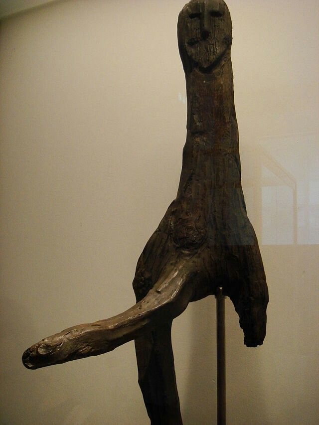 The Broddenbjerg idol is a wooden ithyphallic figure found in a bog at Broddenbjerg, near Viborg, Denmark and now in the National Museum of Denmark in Copenhagen.