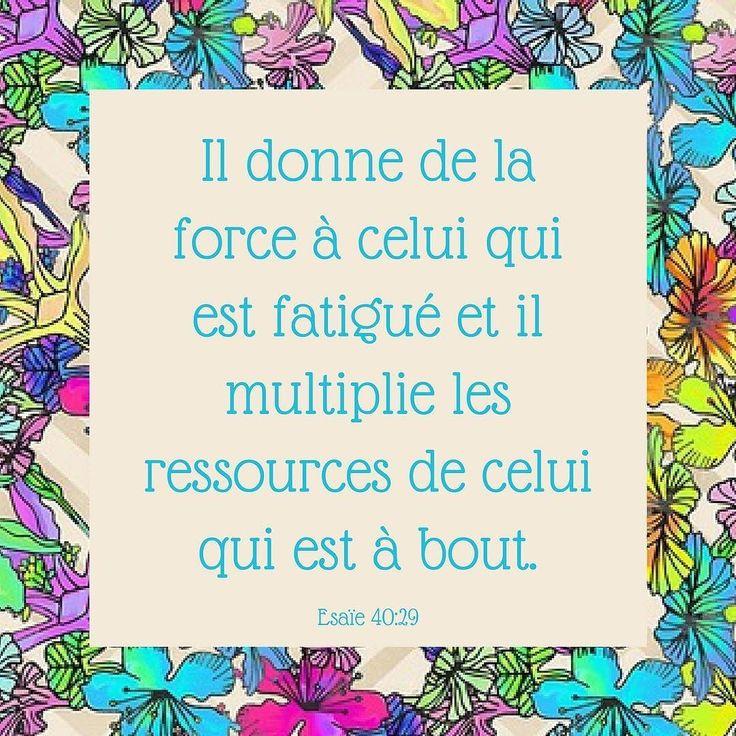 Connais-tu quelqu'un qui a besoin d'être encouragé? Partage ce verset avec elle ou lui! #jenpeuxplus #fatigué #courage #versetdujour #labible