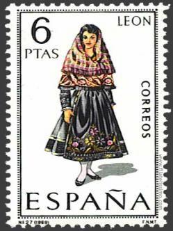 Spain Stamp - Regional costume León