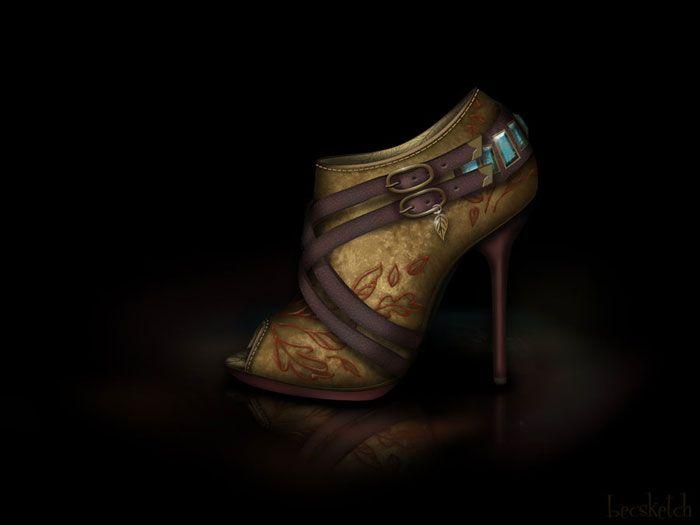 Sapatos inspirados nas princesas da Disney  *--*    #POCAHONTAS