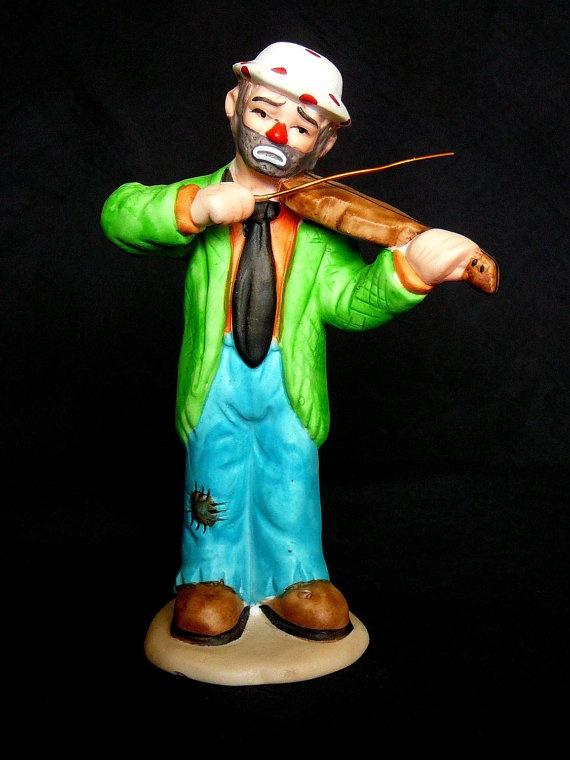 Flambro Emmett Kelly Jr Porcelain Clown Figurine by JulianosCorner