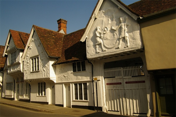A grade-I-listed house, later part of an inn, at Saffron Walden in Essex - beautiful pargetting...