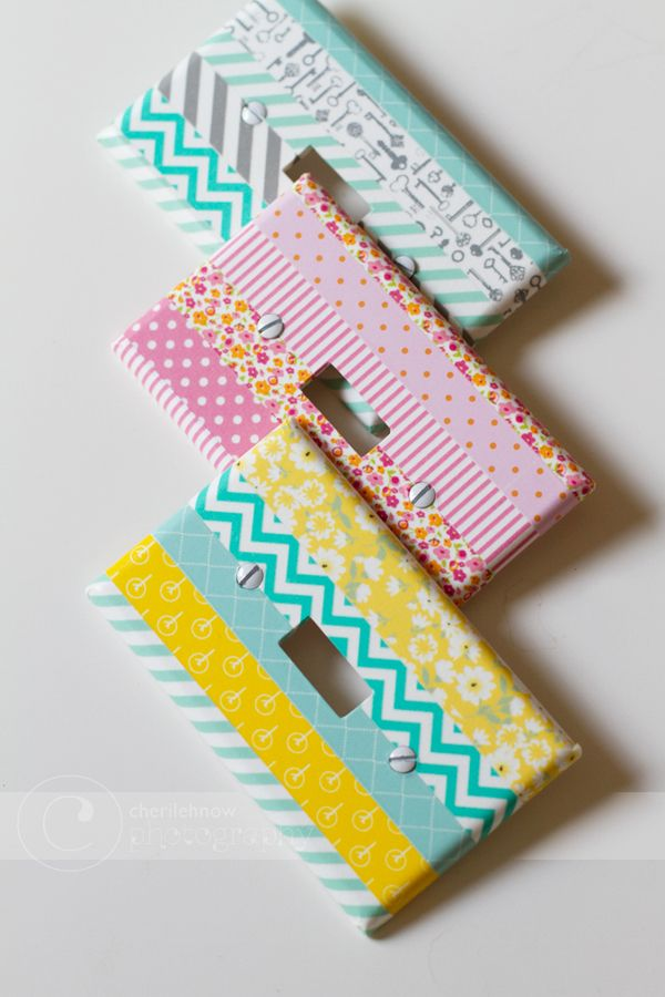5 Fab Washi Tape DIY's...light switches...