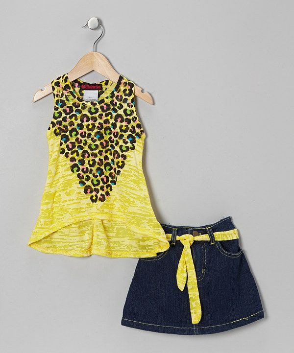 Take a look at this Yellow Leopard Tissue Tank & Skirt - Infant, Toddler & Girls on zulily today!