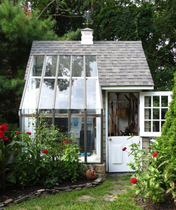 Garden inspiration: a home-built potting shed.
