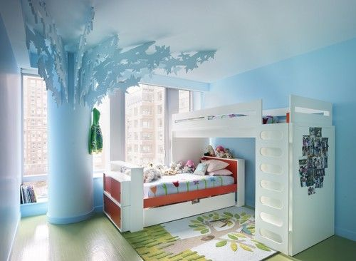 12 habitaciones infantiles decoradas con originales literas (fotos)