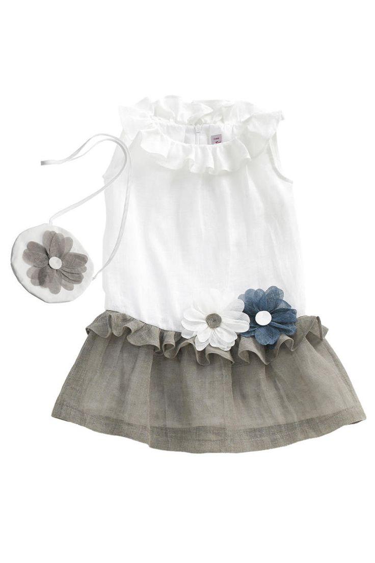 Il Gufo Low-Waist Linen Dress