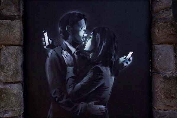 "Banksy ""Mobile Lovers"" - 2014"