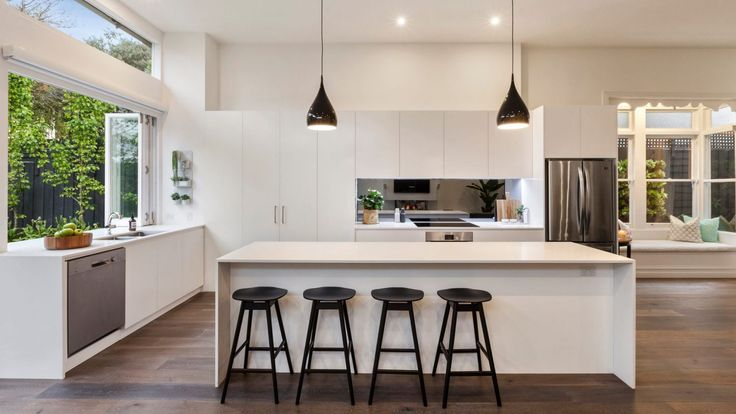 Die besten 25+ Coastal inspired open plan kitchens Ideen auf - ideen offene kuche wohnzimmer