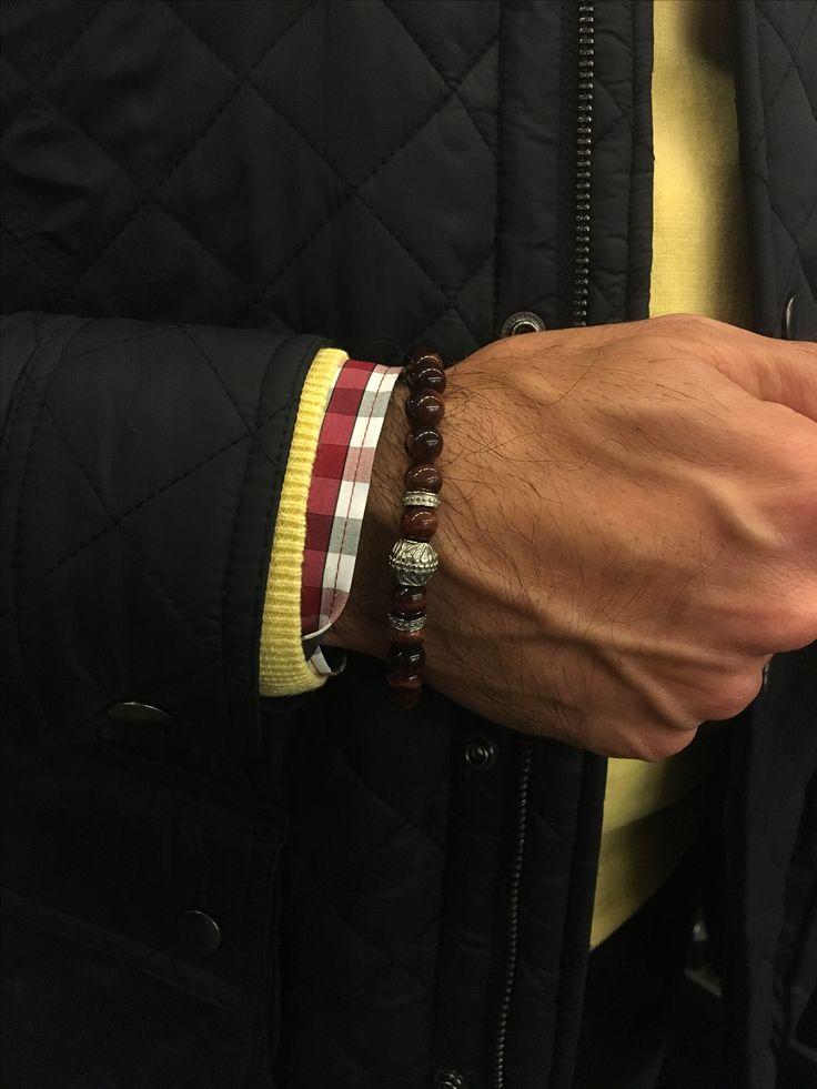 verroni Tiger's Blood bracelet  Premium beaded bracelets exceptionally handcrafted for men.