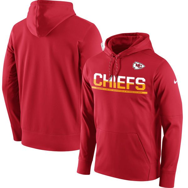 Kansas City Chiefs Nike Sideline Circuit Pullover Performance Hoodie - Red  - $84.99