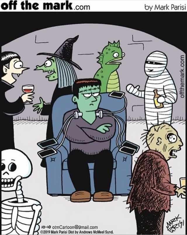Phone Chargers Monsters Horror Jokes Humor Dark Humor Illustrations Art Funny Halloween Jokes Halloween Jokes Halloween Memes
