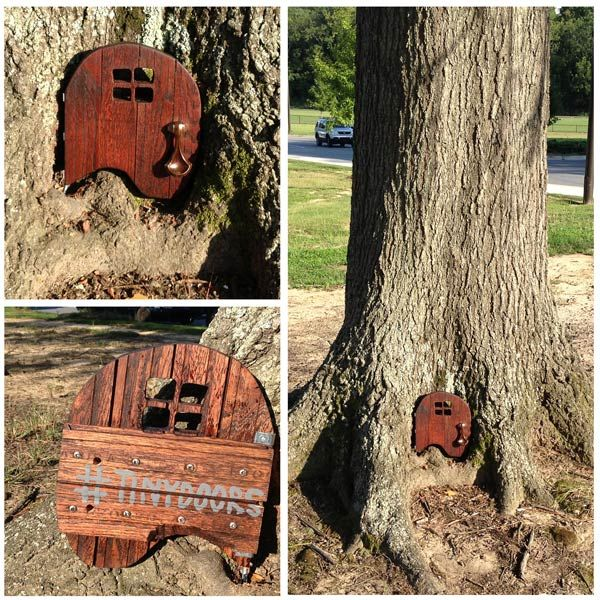 Near the entrance to Elmira Park sits an ingeniously shaped tiny door that fits perfectly in & 28 best Tiny Doors images on Pinterest | Elves Elf and Kansas city Pezcame.Com