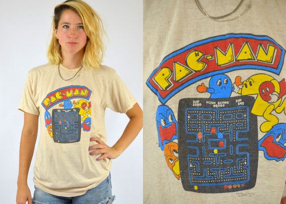 80s PAC MAN Nickel Arcade Mr. Pac Man And by RoslynVTGTradingCo